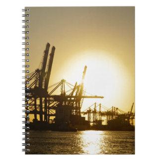 hamburg harbor spiral notebook