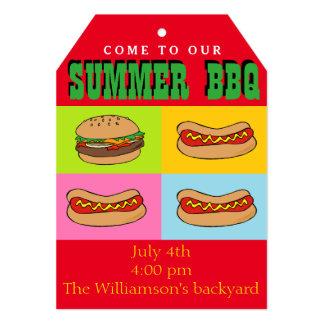 Hamburger Hotdog BBQ invitation