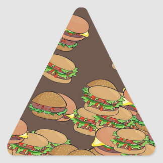 Hamburgers And Cheeseburgers Triangle Sticker