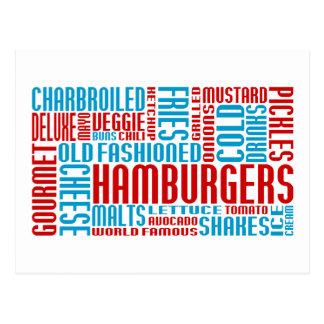 hamburgers chitChat Postcard
