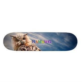 HAMbWG Designed Skateboard -  Perspective Owl