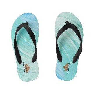 HAMbyWG - Boys Flip-Flops Aqua/Mint Swirl Thongs