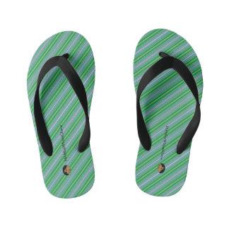 HAMbyWGlove Toddler  - Flip-Flops - Green Stripes Thongs