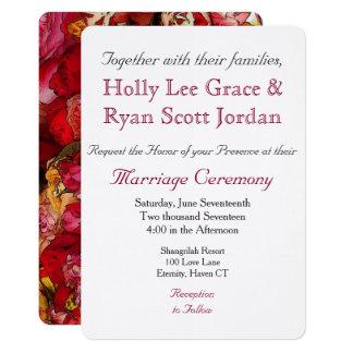 HAMbyWhiteGlove- Invitation/Envelope Colorful Rose Card