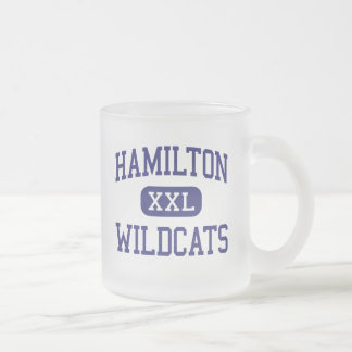 Hamilton Wildcats Middle Memphis Tennessee Frosted Glass Mug
