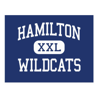 Hamilton Wildcats Middle Memphis Tennessee Postcard