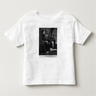 Hamlin Garland in his Cheyenne Teepee Smoking Toddler T-Shirt