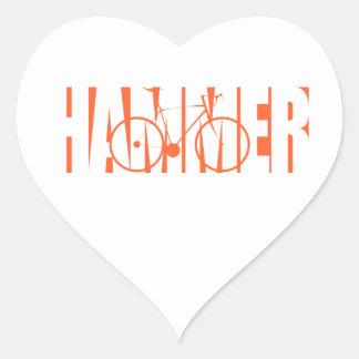 Hammer Heart Sticker