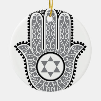hamsa_gray.jpg christmas ornament