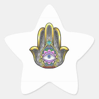 Hamsa hand star sticker