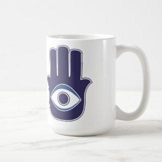 Hamsa / Khamsa Hand of Fatima / Mary Amulet / Luck Coffee Mug