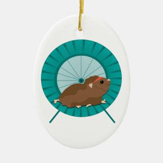 Hamster Treadmill Ceramic Oval Decoration