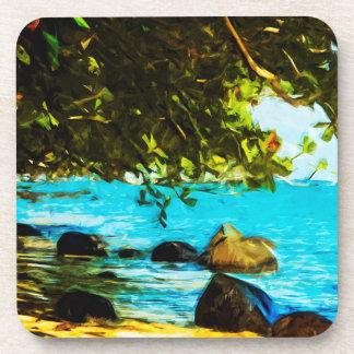 Hanalei Bay Kauai Hawaii Abstract Coaster