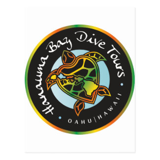 Hanauma Bay Dive Tours -Turtle Logo Postcard