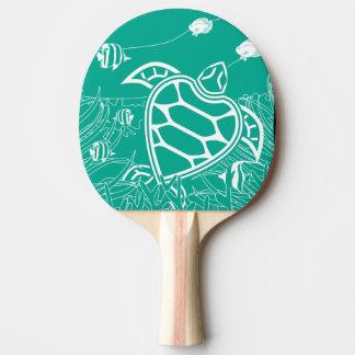 Hanauma Bay Hawaii Islands Turtle Ping Pong Paddle