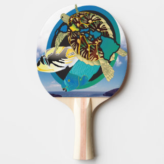 Hanauma Bay Hawaii Islands Turtle Ping Pong Paddle