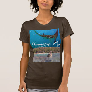 Hanauma Bay Oahu Hawaii Manta Ray and Turtle Tee Shirts