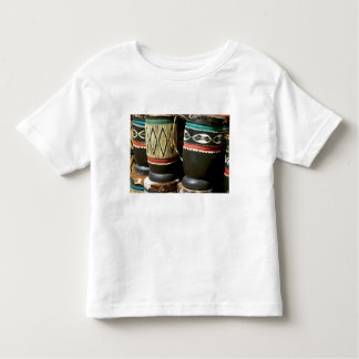 Hand carved drums, Livingston, Zambia Shirts