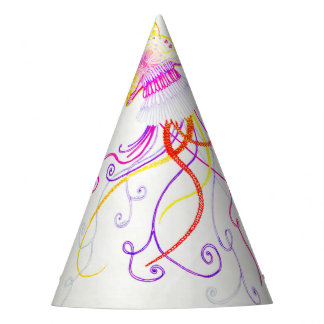 Hand Designed Jellyfish Party Hat