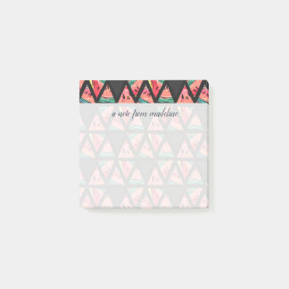 Hand Drawn Abstract Watermelon Pattern Post-it Notes