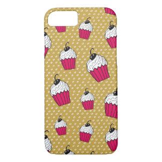 Hand Drawn Cupcake Pattern iPhone 8/7 Case