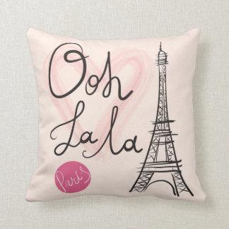 Hand Drawn Eiffel Tower Cushion