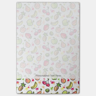hand drawn fruits pattern post-it notes