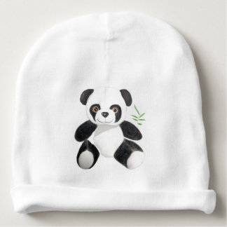 Hand-drawn Panda Plush Baby Beanie
