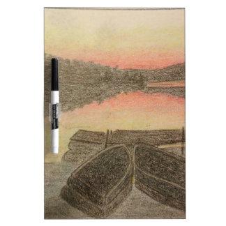Hand Drawn Sunset Dry Erase Board