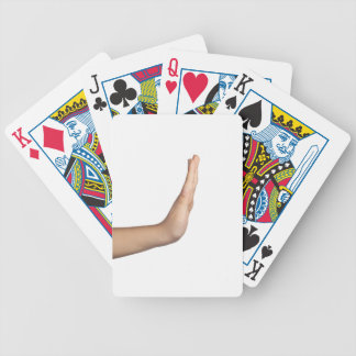 Hand gesture - Stop Bicycle Playing Cards