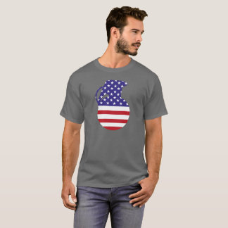 Hand Grenade American Flag Men's Dark T-Shirt