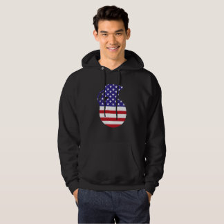Hand Grenade American Flag Men's Hooded Sweatshirt