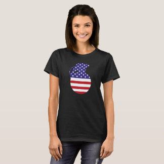 Hand Grenade American Flag Women's Basic T-Shirt