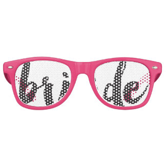 Hand Lettered Bride Swag Party Glasses