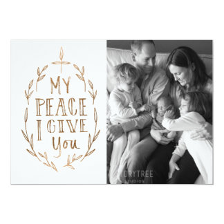 Hand-Lettered My Peace I Give You Photo Card 13 Cm X 18 Cm Invitation Card
