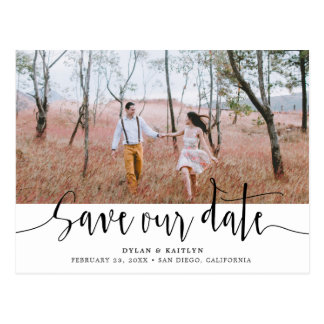 Hand Lettering | Wedding Save Our Date Postcard
