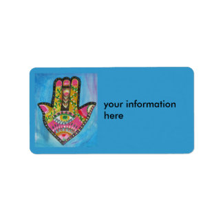 Hand of Fatima labels