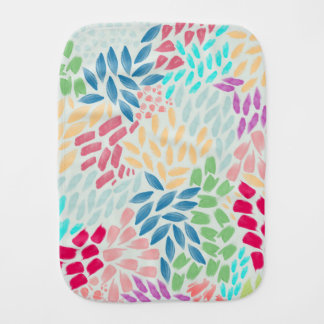 Hand Painted Flower Shower Burp Cloths