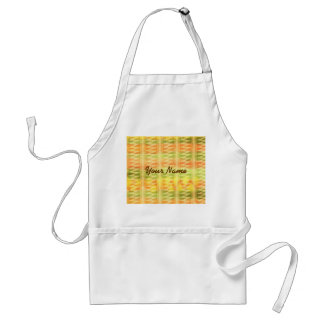 Hand-Painted Watercolor Stripes Pomo Zigzag Tribal Standard Apron