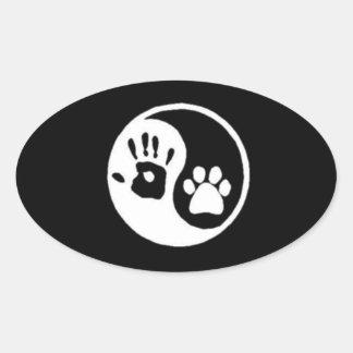 Hand/Paw Yin-Yang Symbol Sticker