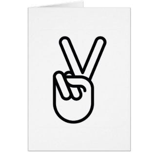 Hand Peace Sign Greeting Card