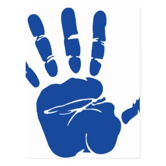 Hand Print Image Postcard