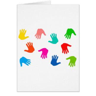 Hand Prints Card