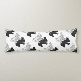 Hand Silhouette Rabbit Body Cushion