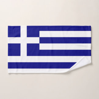 Hand Towel with Flag of Greece