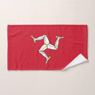 Hand Towel with Isle of Man Flag, United Kingdom