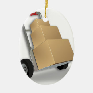 Hand Truck Delivery Christmas Ornament