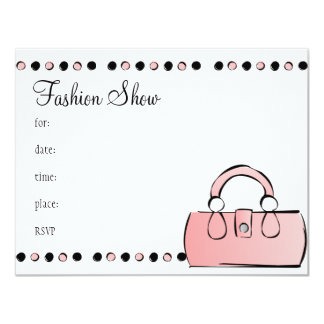 Handbag 11 Cm X 14 Cm Invitation Card