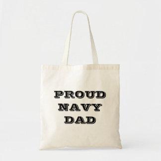 Handbag Proud Navy Dad Tote Bag