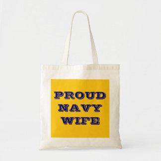 Handbag Proud Navy Wife Budget Tote Bag
